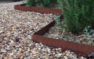 Rusted Steel Edging